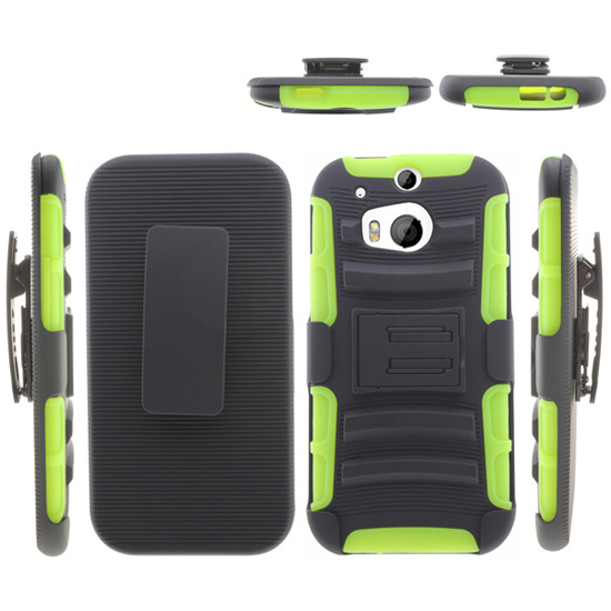 Factory Combo holster hybrid case for htc M8 kickstand phone cover