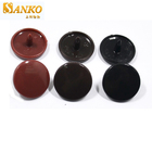 china supplier 15mm colored plastic snap button fastener for jacket