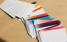 30 Sheets File Tab Card Document Catalog Assorted Color Note Index Card
