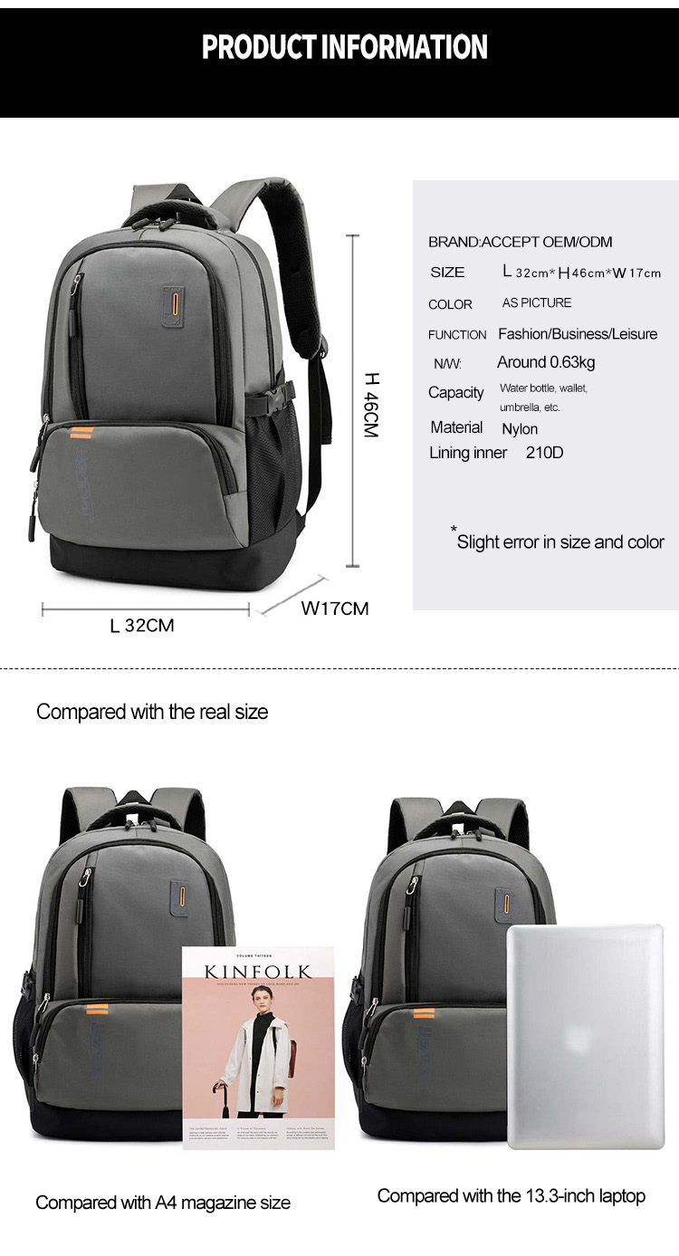 Hot Promotion Cheap Factory OMASKA High Quality Waterproof Nylon Custom OEM Leisure Laptop School bags Backpack