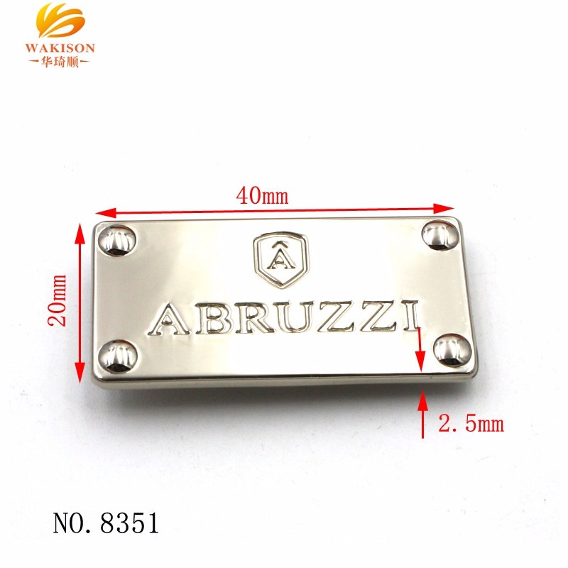 Wholesale car accessories custom brand logo plate