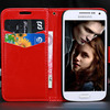Top Quality For Samsung S4 Cover PU Leather Case For Galaxy MINI i9190 With Strap HLC0095