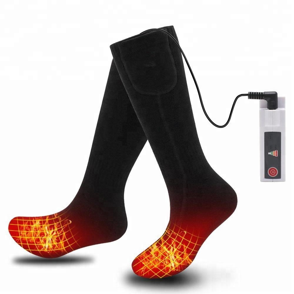 Heated Foot Massage Warm Socks Battery Electric Heated Socks