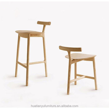 Whole Wood Frame 3 Legs High Resting Chair Hotel Bar Furniture Stools