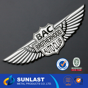 Sunlast epoxy car logo sticker 3d stickers metal car oem6068