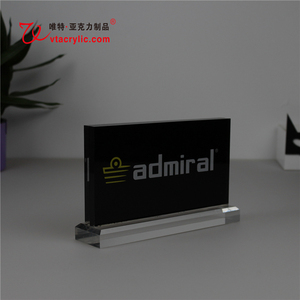 OEM &ODM Bespoke thick high transparent acrylic free standing card block, business card block display
