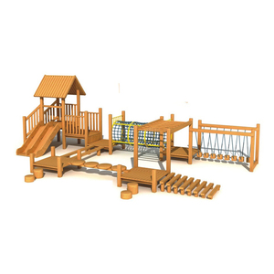 Best Quality Children Wooden Castle Park Wooden Play Tunnels Outdoor Playground Hfc214 3