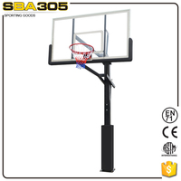 heavy duty inground basketball with stand