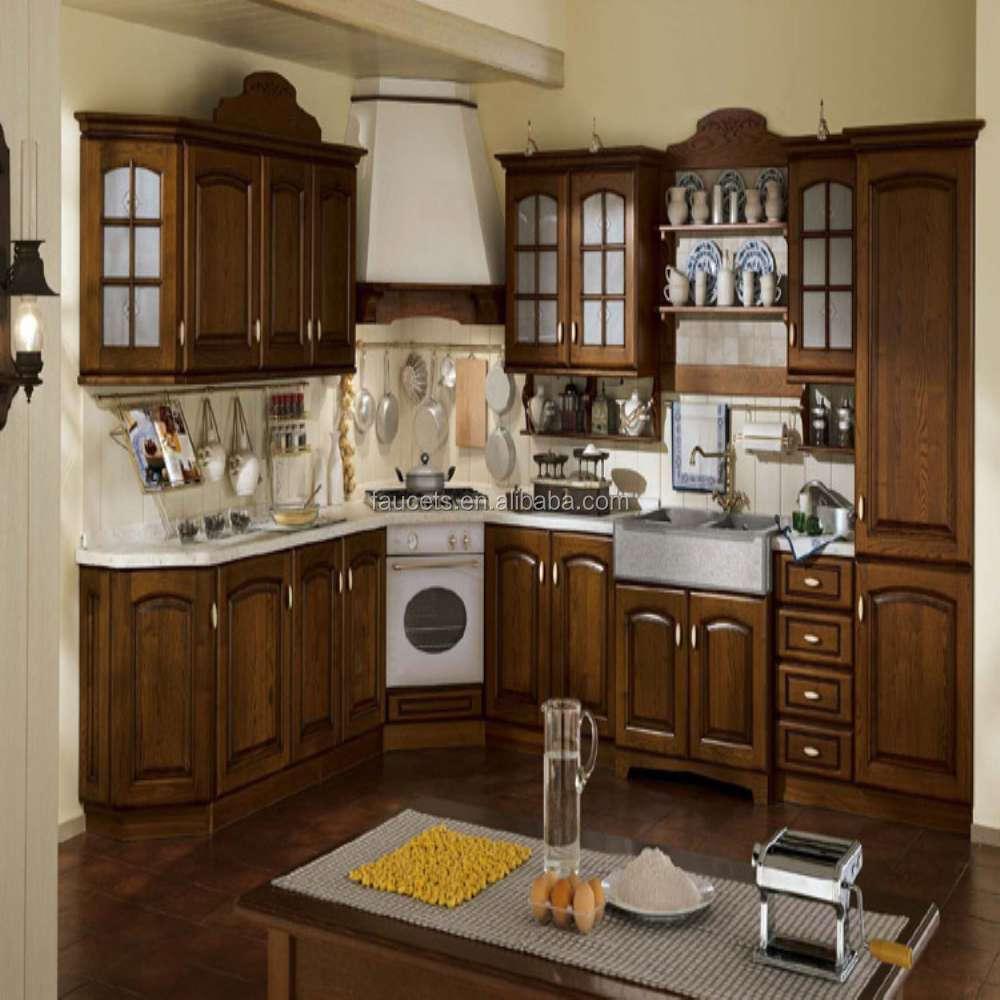 Waterdichte massief houten modulaire keuken kast keuken kasten ...