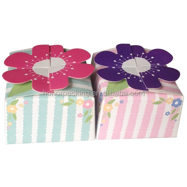 Wholesale fancy design paper cardboard birthday cake box flower design cute paper cake box wholesale in china