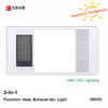 Newest design large airflow bathroom heater with LED light 15W for Australia market