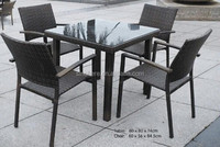 2014 classic style outdoor rattan dining furniture wicker table and chairs 5pcs