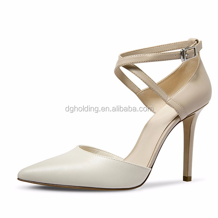 2017 Womens High Heels Cross Strap Party Wedding Sweet Shoes Pumps