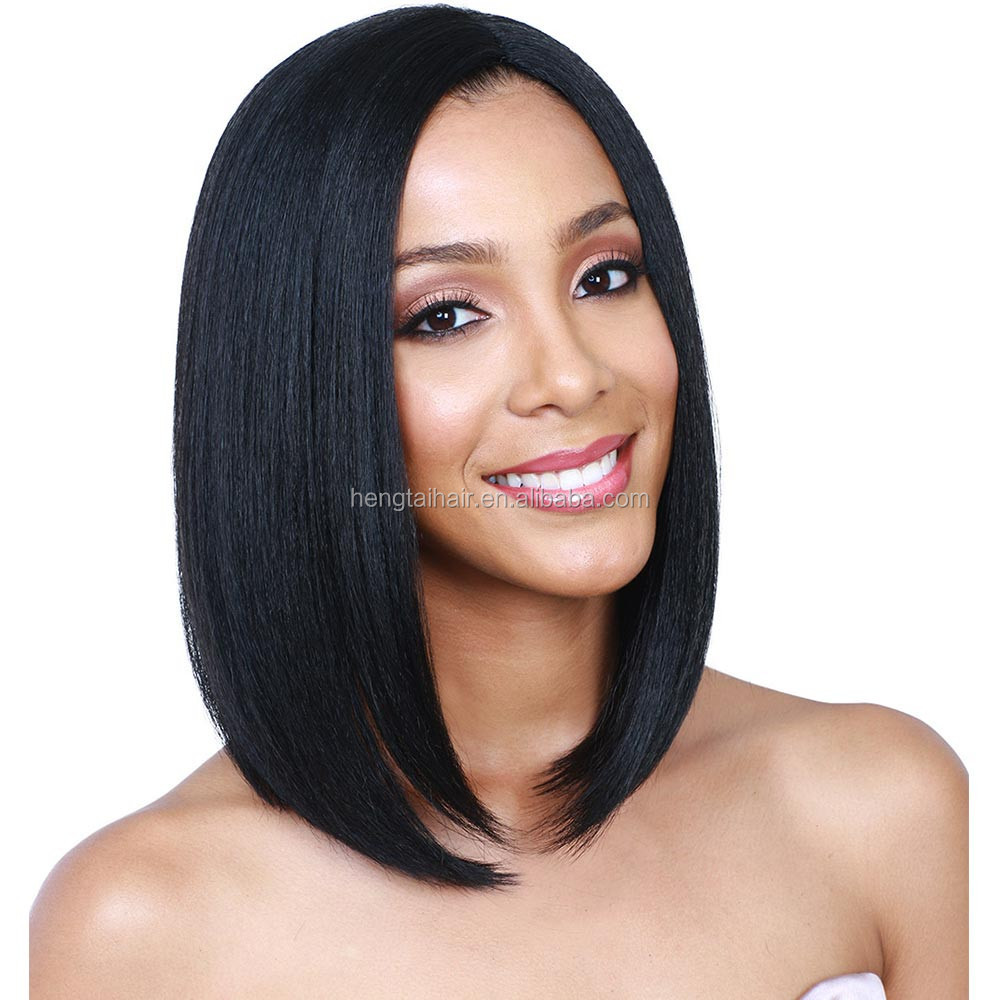 Short Bob Wigs For Black Women Synthetic Wigs Bob Style Lovely Wig Black Wis For Women Fast Shipping