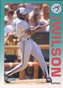 Mookie Wilson 1992 Fleer Baseball Card #347 Toronto Blue Jays