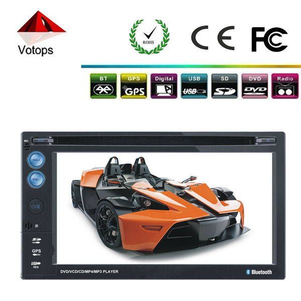 2 din cheap Car DVD player with GPS navigation