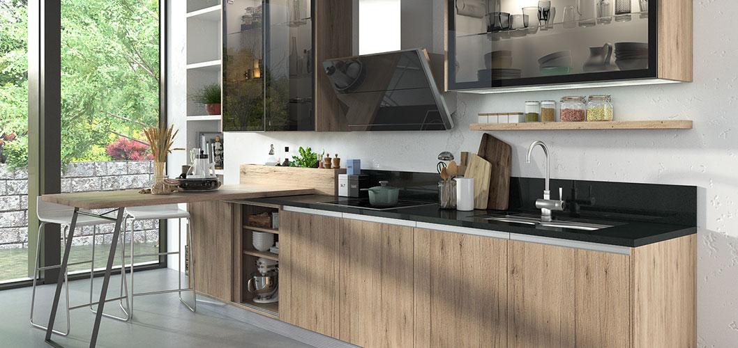 Toptan mutfak dolabı tasarımları aynalı kapı ve metal tel çekmeceler