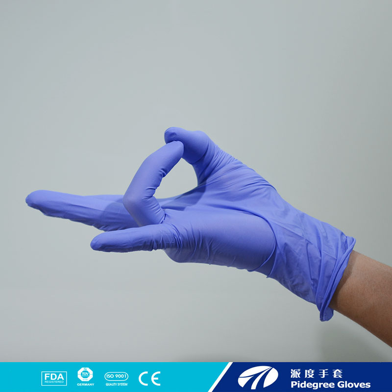 rectal examination powder free plastic disposable nitrile gloves