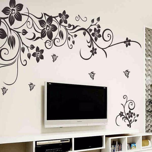 achetez en gros romantique sticker mural en ligne des grossistes romantique sticker mural. Black Bedroom Furniture Sets. Home Design Ideas