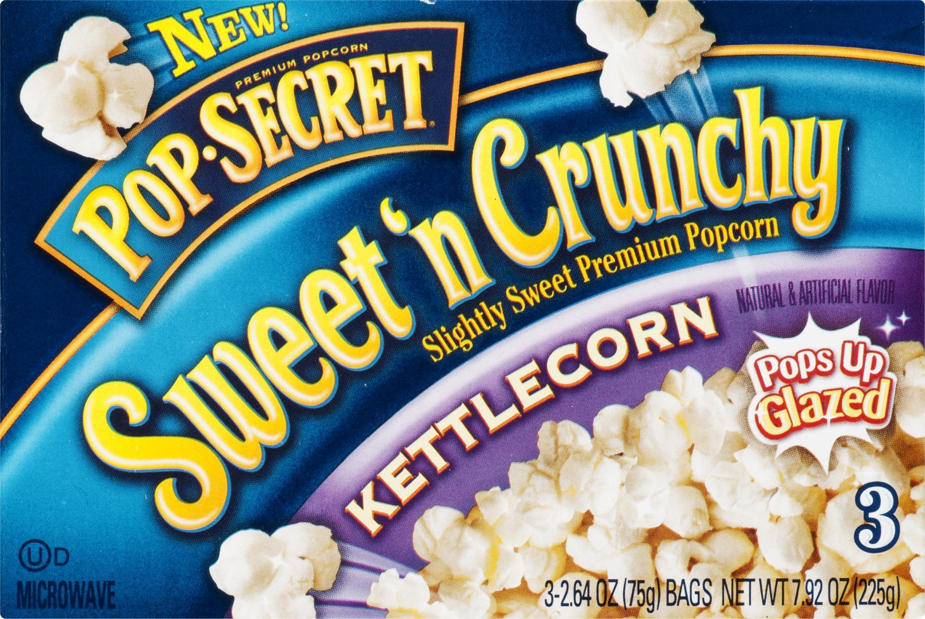 Pop Secret Sweet 'N Crunchy Popcorn Kettlecorn - 3 CT