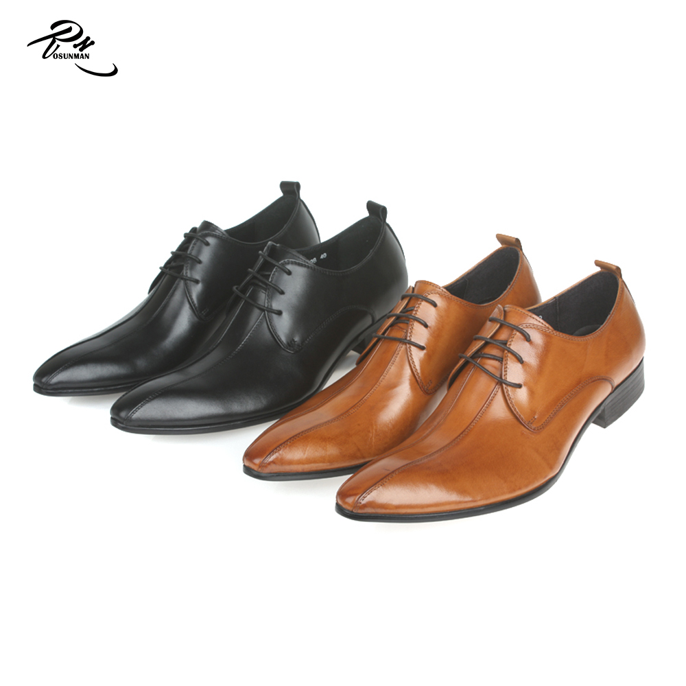 brown men brand Pointed polished toe name shoe custom design own 5w05qFXpx