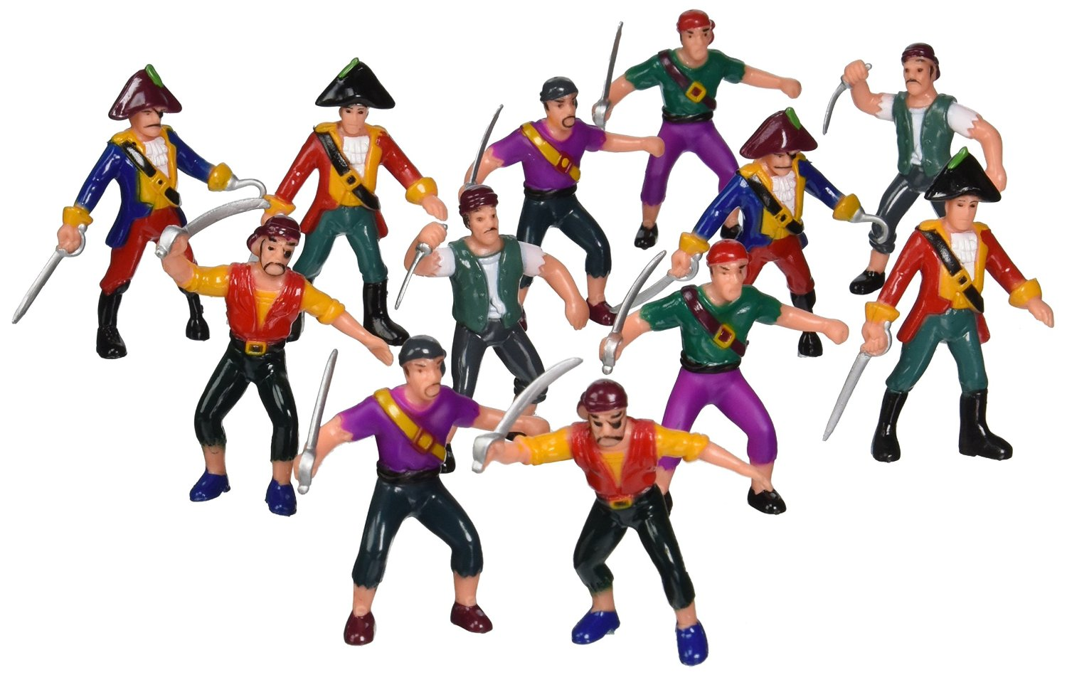 Rhode Island Novelty Plastic Pirate Action Figures (1 Dozen)