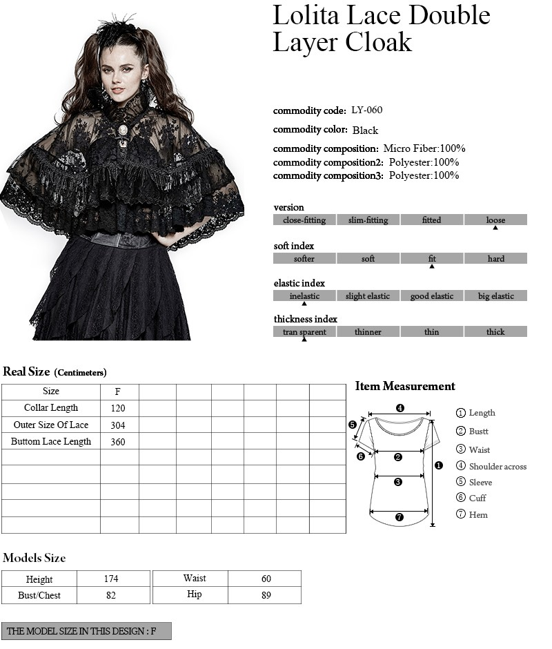 LY-060 Hallowmas fashion Lolita girls flowers high collar cosplay lace cloak