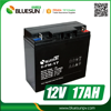 Bluesun gel and agm 12v 17ah 18ah 20hr battery with ISO CE ROHS Certificate