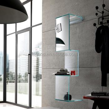 Plank Aan Wand.N779 Modern Muur Planken Zwevend Glazen Schappen Glas Home Decor