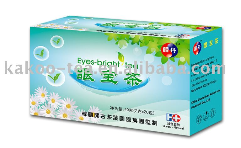 Eye bright herbal tea bags