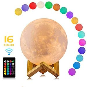 2019 Hot selling 3D Led Moon Lamp Night Light Touch Switch Double Color Moon Lamp