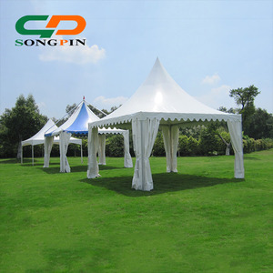 6x6m pagoda gazebo wedding party tent made of durable aluminum frame for outdoor wedding ceremony event