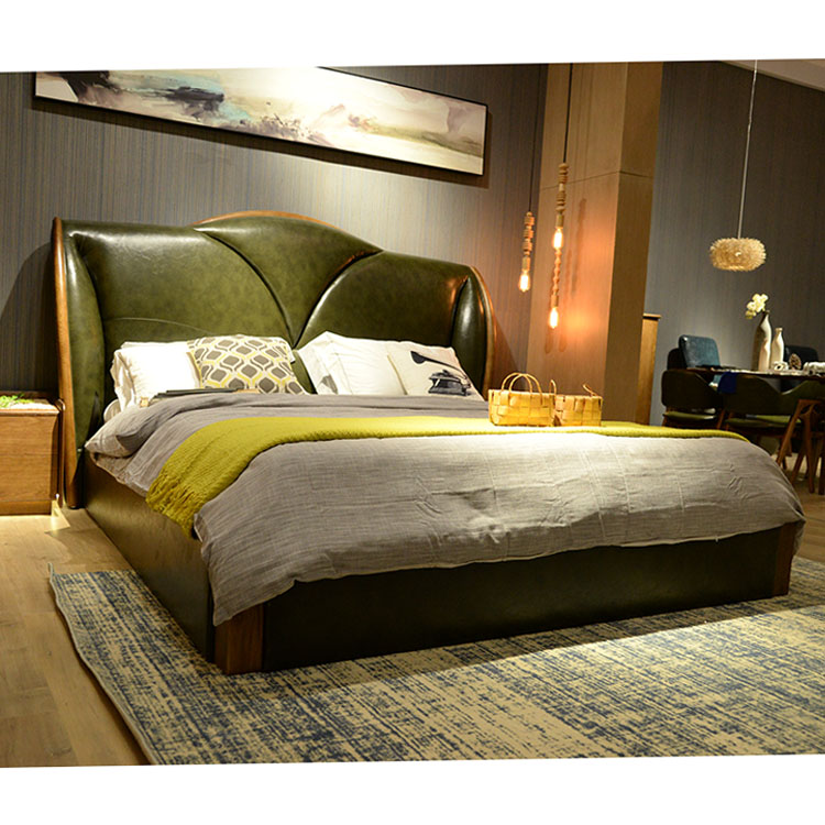 2016 new double <strong>bed</strong> designs wood queen size <strong>bed</strong> with box