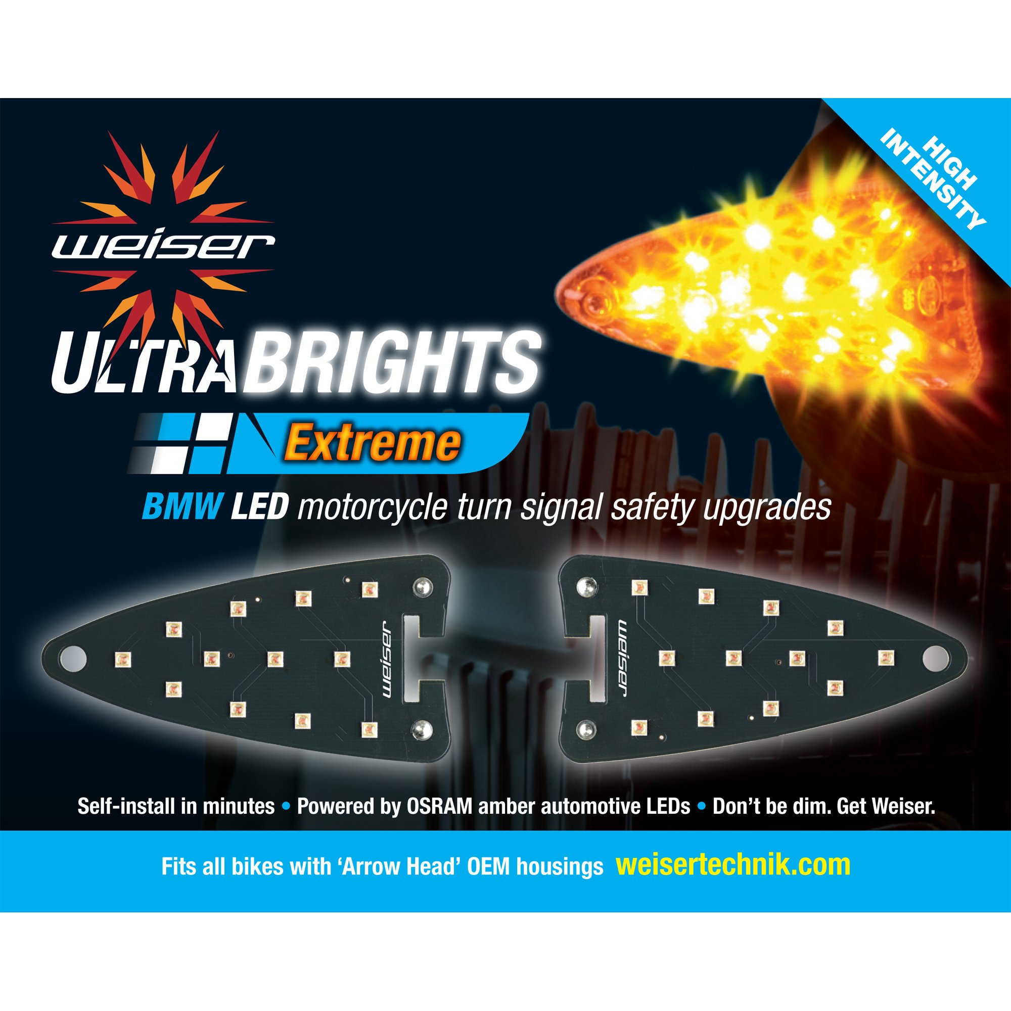 Ultrabrights Extreme LED Turn Signal Upgrades for newer BMW Motorcycles