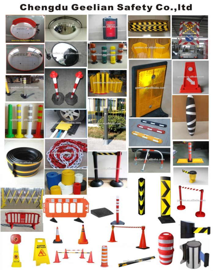 Flexible Plastic Traffic Road Parking Safety Warning Spring Bollards For Global Market