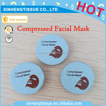 Hot Sell Lady DIY Natural Skin Care 100% viscose Compressed Facial Mask