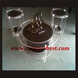Custom a set of acrylic furniture table with chair