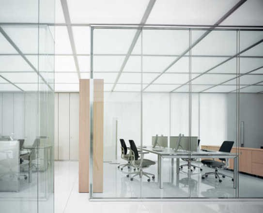 Removable office decorative clear glass partition walls
