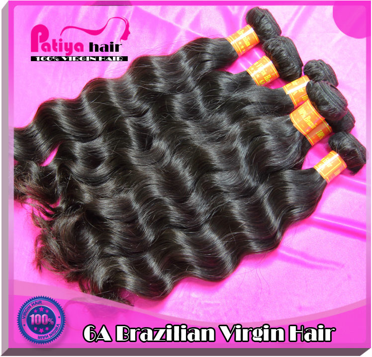 Noble & gorgeous virgin Brazilian hair wavy with cheap price short medium long length natural Brazilian human hair weave