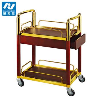 Luxury Hotel Catering Food Service Liquor Dining Trolley Dining Service Cart