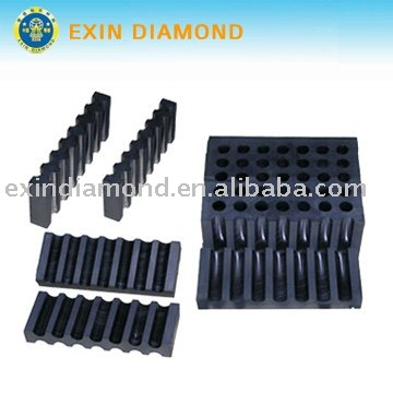 Graphite mould for wire saw beads