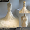 Best Quality long sleeves mermaid illusion back wedding dress