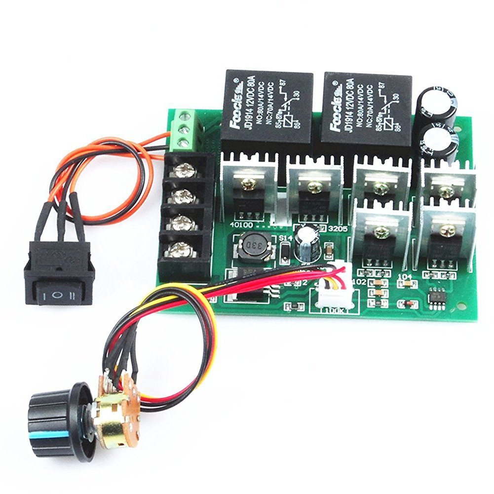 Cheap Brushed Motor Speed Controller Circuit Find Ac Control Reversing Polarity Dc Get Quotations Sodialr Pwm Electronic Governor 40a 10v 50v 12v
