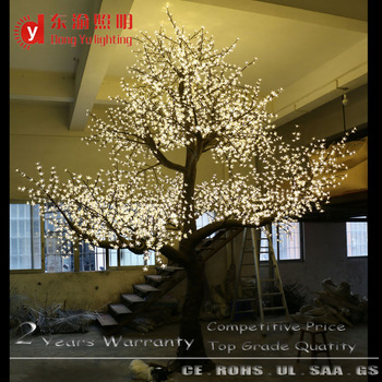 15ft Outdoor Large Led Artificial White Cherry Blossom Tree For
