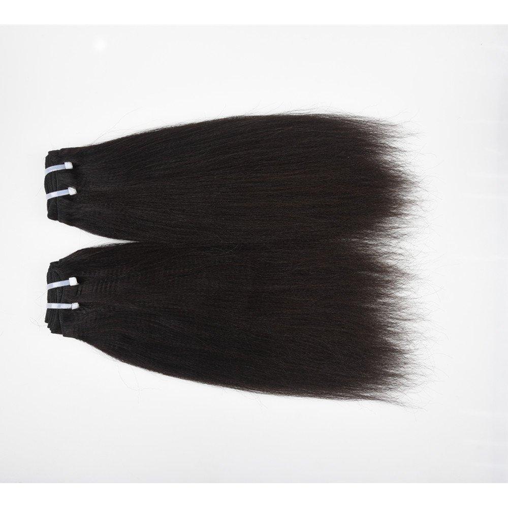 "ChisonHair Brazilian Virgin Hair YAKI Straight 3 Bundles/lot Weight(100g+/-5g)/Bundle Grade 8A Unprocessed Virgin Human Hair Weave Weft Natural Color Tangle-free (20"",20"",20"")"