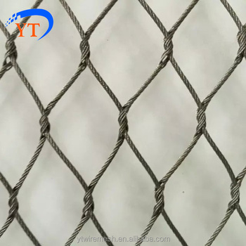 Security Screen Stainless Steel Wire Mesh,Wire Rope Ferrule Mesh Ss ...