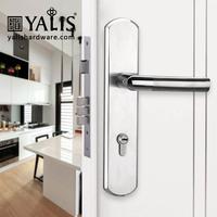 Most secure door locks anti theft lock case SS door handle and plate