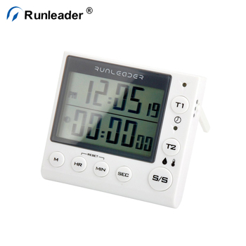 Runleader Home Lab Electronic Digital Timer 2 Channel Clock Cooking Time Manager