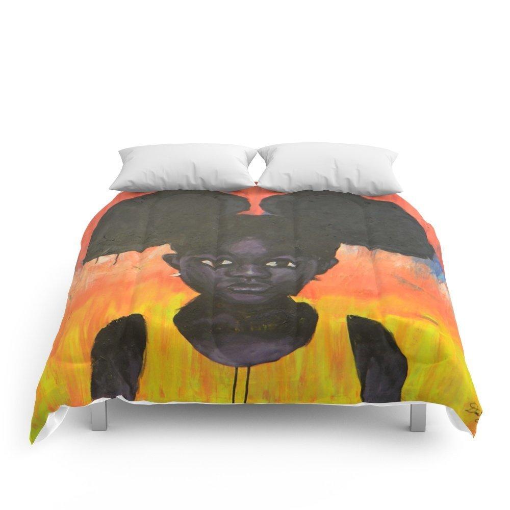 "Society6 BLACK GIRL LOST Comforters King: 104"" x 88"""