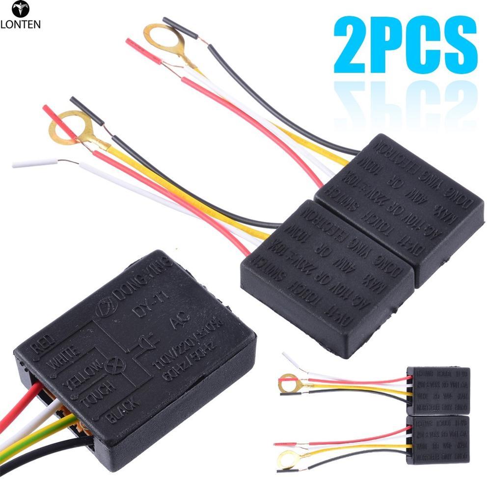 Lonten  2pcs AC 100-240V 3 Way Touch Sensor Switch Desk light Parts Touch Control Sensor Dimmer For Bulbs Lamp Switch